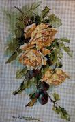 "Needlepoint Kit ""Roses"" 9.8""x15.7"" 25x40cm printed canvas cod.550"