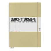 Leuchtturm1917 Slim Master Size Hardcover Plain Notebook, Sand