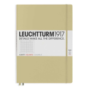 Leuchtturm1917 Slim Master Size Hardcover Squared Notebook, Sand