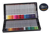XPASSION water-soluble colour pencils 72 colours with metal pencil sharpener with Japanese instructions