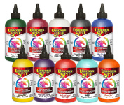 Unicorn SPiT Gel Stain & Glaze in One - 10 Paint Collection 240ml bottles