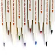 Ohuhu Metallic Marker Pens, Set of 10 Colours For Birthday/ Greeting/ Gift Card, DIY Photo Album, Brush Tip