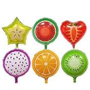 Crazy Night 12pcs 46cm Fruit Balloons Birthday Foil Balloon , Candy Colour Helium Balloons , Party Wedding Supply