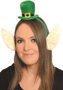 Fun Machine Cheeky Mini Irish Leprechaun Hat On Headband With Attached Felt Ears - St Patrick'S Day