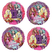 Ever After High Birthday Mylar Balloons - 4 Balloons