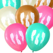 Feather Balloons (16 pcs) | Tribal | by Nerdy Words