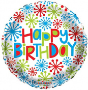 Birthday with Stars 46cm Mylar Balloon Bulk