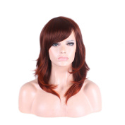 Longlove Middle Natural Synthetic Human Wig For Women Usual Life Various shapes