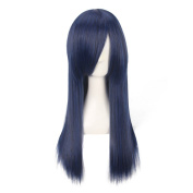"Yesui 23"" 60cm Women Girl's Cosplay Party Wigs Long Straight with Bangs Natural Synthetic Hair with Wig Cap"