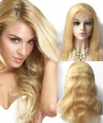Pancy Body Wave Lace Front Wig Human Hair Lace Wig Blonde Long and Wavy #613 Colour Full Lace Wig with Baby Hair