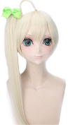 OYSRONG Women Long Straight Beige Colour Anime One Ponytail Costume Cosplay Lace Cap Wig