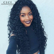 Cici Collection 250% Density Loose Curly Lace Human Hair Wigs Brazilian Virgin Lace Front Wigs For Black Women Loose Wave Human Hair Wigs With Baby Hair