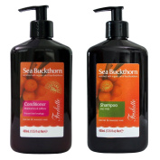 Shampoo and Conditioner Set with Organic Sea Buckthorn / Oblepiha Oil by Frulatte for dry and damaged hair