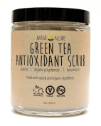 Green Tea Antioxidant Body Scrub by Native Allure with Organic Polyphenols and Kukui Nut Oil - Reduces Cellulite & Acne - Rejuvenates Skin - Unclogs Pores and Moisturises Natural Ingredients