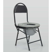 Drive Medical Folding Bedside Commode Seat with Commode Bucket Toilet Seat Elderly Elderly Pregnant Women , black