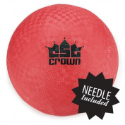 22cm Official Size Dodge Ball with Textured Grip by Crown Sporting Goods