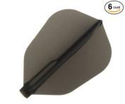 Cosmo Darts 6 Pack Fit Flight - Super Shape Dart Flight