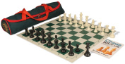 Chess 101 Beginner Chess Set Package Black & Ivory Pieces - Green