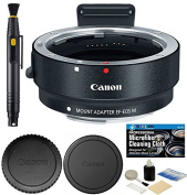 Canon EOS EF-M Lens Adapter Kit for Canon EF / EF-S Lenses with Accessories Bundle