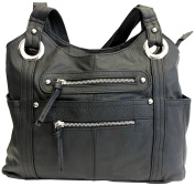 Leather Locking Concealment Purse - CCW Concealed Carry Gun Shoulder Bag
