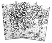 WraptorSkinz Vinyl Craft Cutter Designer 12x12 Sheets Folder Doodles White - 2 Pack