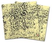 WraptorSkinz Vinyl Craft Cutter Designer 12x12 Sheets Folder Doodles Yellow Sunshine - 2 Pack
