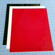 Siser Easyweed 3 Pack (1) 38cm x 30cm Sheet of Black, White, and Red Iron on Heat Transfer Vinyl, HTV by Coaches World