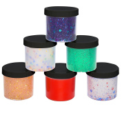 Slime Storage Containers 350ml (6 Pack) - Clear Jars For All Your Glue Putty