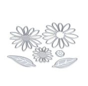 DIY Scrapbooking Tools,Singleluci Metal Flower Cutting Dies Stencils