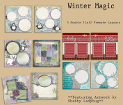 Winter Magic Scrapbook Kit - 5 Double Page Layouts
