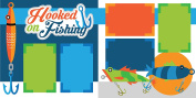 """""""Hooked on Fishing"""" ASSEMBLED Scrapbook Page"""