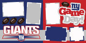 """Giants NY Game Day"" ASSEMBLED Scrapbook Page"