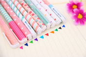 10 Different Colours Gel Pen Set Non Bleed Fine Point Gel Ink Pen 0.38mm Smooth Anti Skip