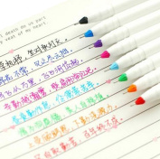 Bao Core 8 Different Colours Gel Pen Set Non Bleed Gel Ink Pen 0.4mm Smooth Anti Skip