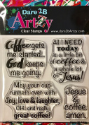 Dare 2B Artzy Coffee & Jesus (17244) Clear Cling Rubber Stamps
