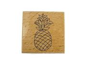 Studio G Hot Fudge Studio Pineapple Wood Mounted Rubber Stamp