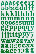 Jazzstick Small Alphabet Letters Decorative Sticker Value Pack Self Adhesive Label for Craft and Scrapbooking 5 sheets, Green 14D02