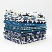 Dark Blue Fat Quarter Bundle (DK.BL.10FQ) by Mixed Designers for Southern Fabric
