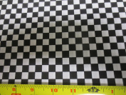 Black & White Racing Cheque Cotton Fabric