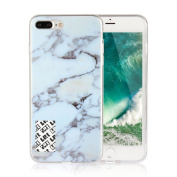 For iPhone 7 Plus(5.5),LefRight White Marble Pattern Design Protective Soft Back Case
