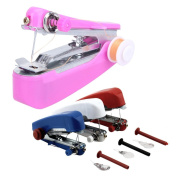 Whitelotous Mini Protable Quickly Mend Fabric Hand-Held Clothes Sewing Machine Works on All Fabrics