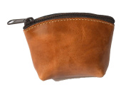 Artisan's Made Leather Coin Purse in Light Brown (leather colour) - from Costa Rica.