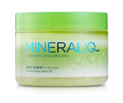 Mineral Care Dead Sea MINERALIQ Body Scrub for Dry Skin - Lime & Grape Seed Oil
