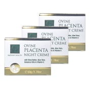 NATURE'S BEAUTY OVINE PLACENTA NIGHT CREAM 50g with shea butter, Aloe Vera, Botanical Oils & Vitamin E