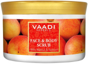 Face and Body Scrub With Walnut and Apricot Herbal Cream Remove dry dead skin cells & blackheads - 500 gm - Vaadi Herbals