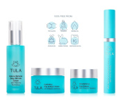 TULA Skin Care Complete Age Reversal - Anti-Ageing Hydration Kit with Probiotic Technology - Volume Defence Wrinkle Serum, Day & Night Cream, Revitalising Eye Cream, and NEW Eye Renewal Serum