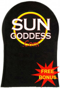 Sun Goddess - Sunless Self Tanning Applicator Mitt  .  1) Pair of Sunless Self Tanning Applicator Gloves + (3) Sunless Self Tanner Samples - Best Sunless Self Tanning Lotion / Mitt / Gloves