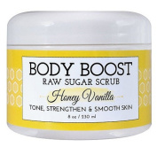 Basq Body Boost - Raw Sugar Scrub Honey Vanilla - 240ml