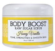 Basq Body Boost - Raw Sugar Scrub Honey Vanilla - 240ml