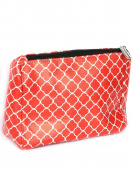 Quatrefoil Print Cosmetic Makeup Bag or Pouch Wallet Clutch Purse